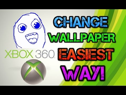 How To Change Your Xbox 360 Background Image Wallaper! EASIEST WAY!
