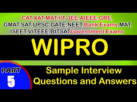 Wipro -  5 Jobs Careers Interview Questions and Answers videos-Freshers,Experienced