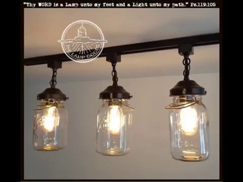 Client gets a little choked up talking about her Mason Jar Track Lighting
