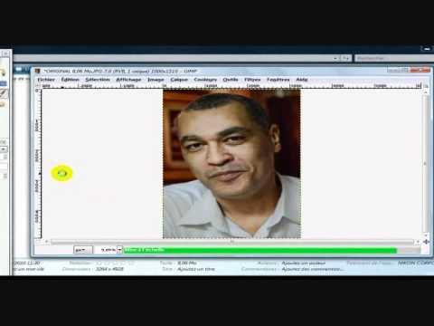 Comment compresser une image jpeg avec GIMP en 8 clics.wmv