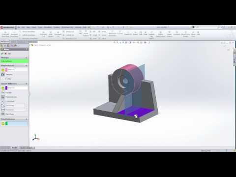 Creating reference planes in SolidWorks