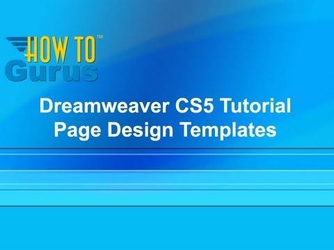 Dreamweaver CS5 Templates Tutorial - Page Design Templates in Dreamweaver CS5