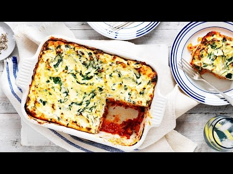 Spinach, Ricotta and Mushroom Lasagne