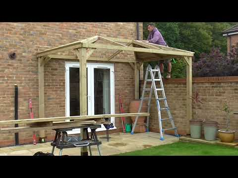 Bishops  Stortford Gazebo Build with Felt Tile Roof