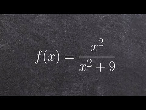 Finding the asymptotes and intercepts of a rational function