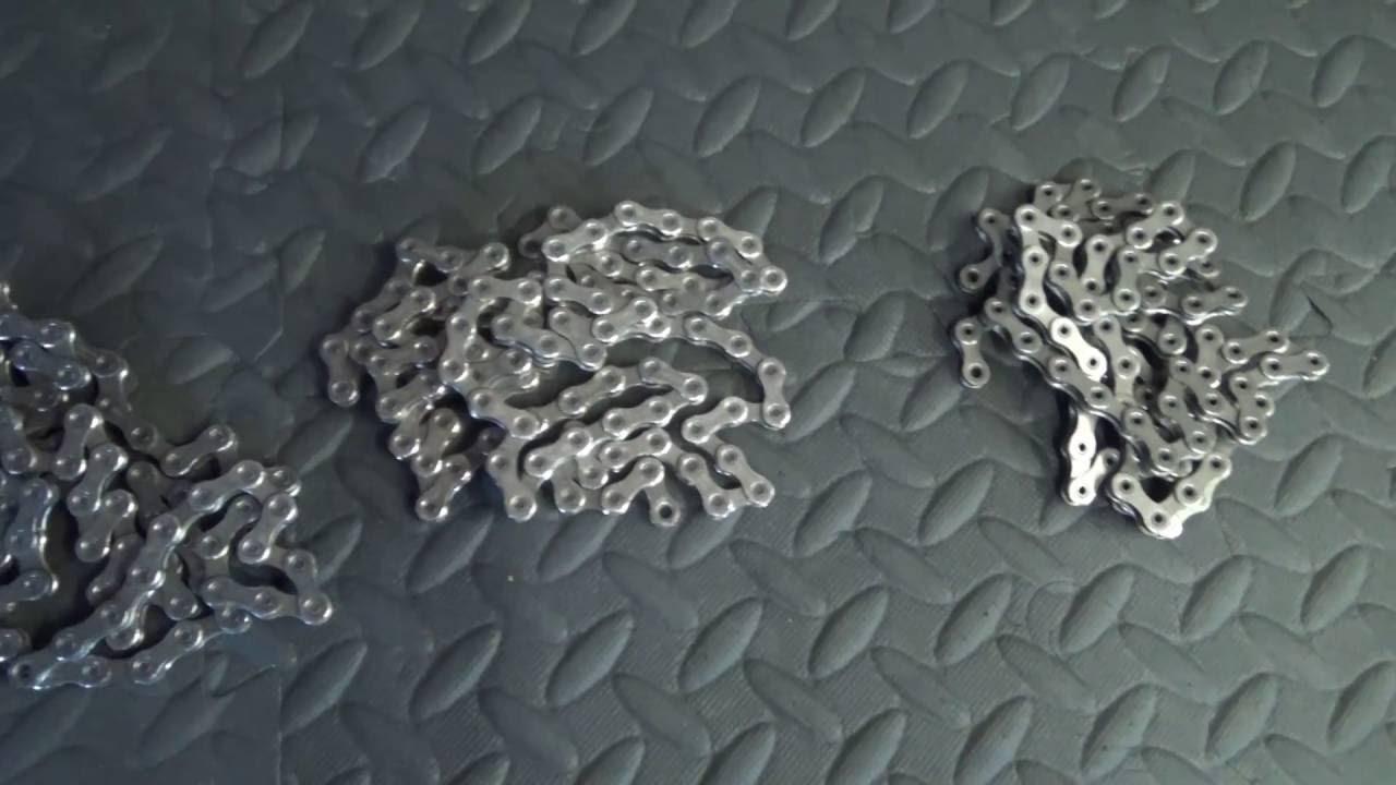 Shimano 11 speed chain comparison. Dura Ace 9000 / Ultegra 6800 / 105 5800
