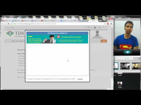 Step 2 (Filing Returns Online ) How to download and View Form 26 AS (Hindi )