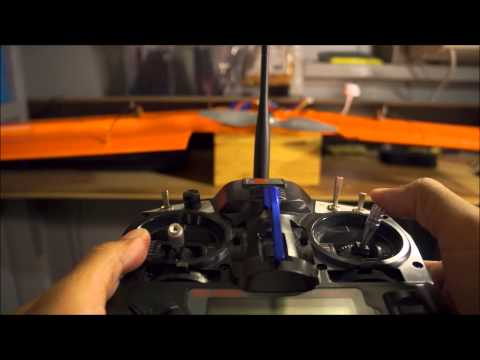 How to setup an rc radio for a delta wing plane.