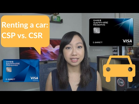 Best Credit Cards for Car Rentals: Chase Sapphire Reserve vs. Chase Sapphire Preferred