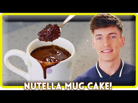 2 MINUTE NUTELLA MUG CAKE!