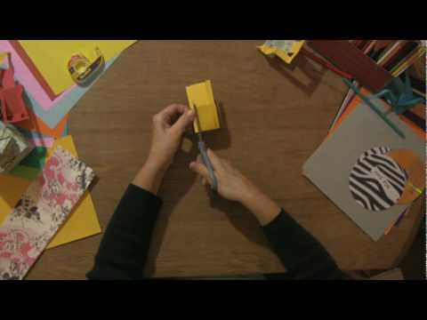 Paper Craft Projects : How to Make Paper Beach Chairs