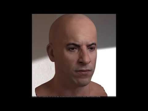 Human Male Head Anatomy 3D Model From CreativeCrash com - Human Head