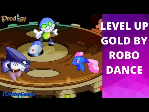 How to level up Gold by Robo dance::Robo TEK-Y4 & Dark Tower battle::Level 14/15::G-5::Prodigy Math