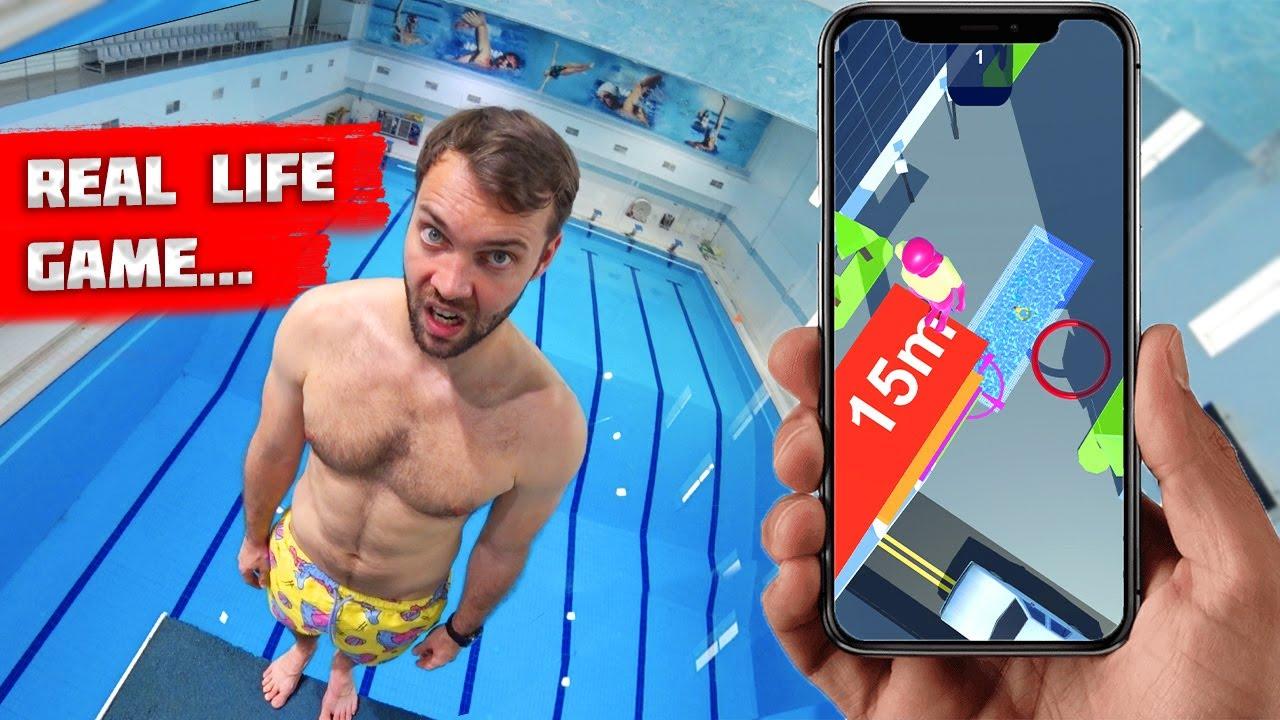 GAME of Flip Master Diving IN REAL LIFE    WINNER GETS $100