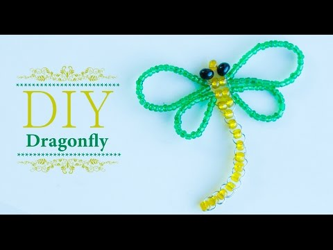 How to make easy beaded dragonfly | DIY | Beads art