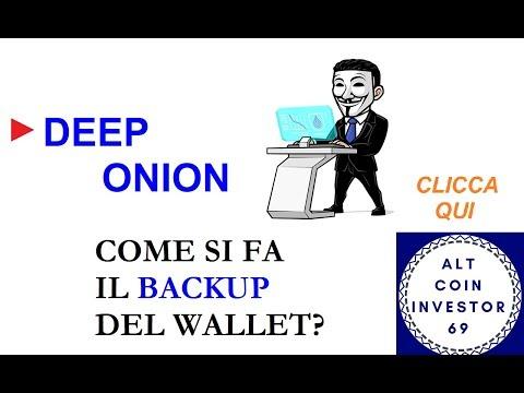 ► COME SI FA IL BACKUP DEL TUO DEEP ONION WALLET? ECCO LA GUIDA... #ACI69 #VIDEORIPETIZIONI