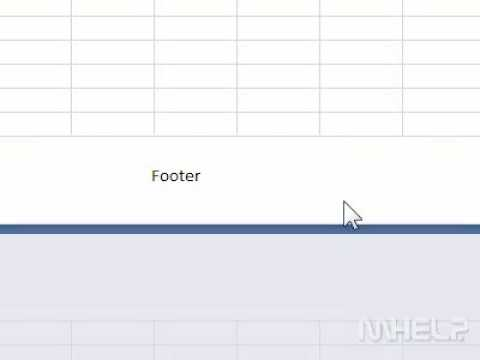 How to add a footer to a spreadsheet in Excel