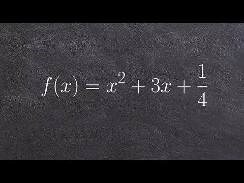 Find the vertex and x intercepts of a quadratic