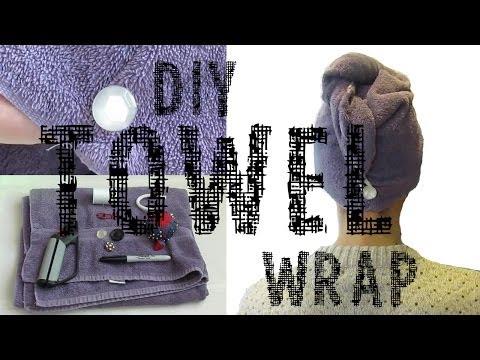 DIY Towel Wrap for Hair