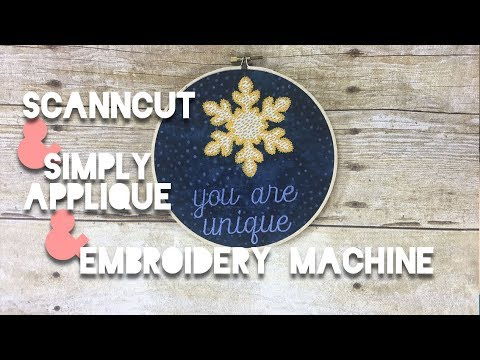 ScanNCut + Simply Applique + Brother Embroidery Machine