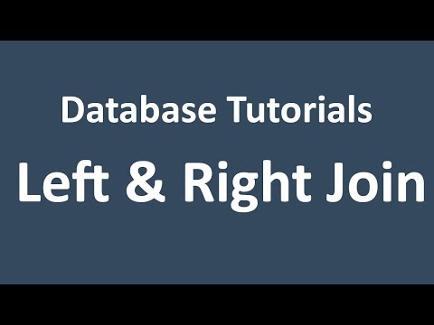 Database Tutorial - 15 - LEFT Join and RIGHT Join