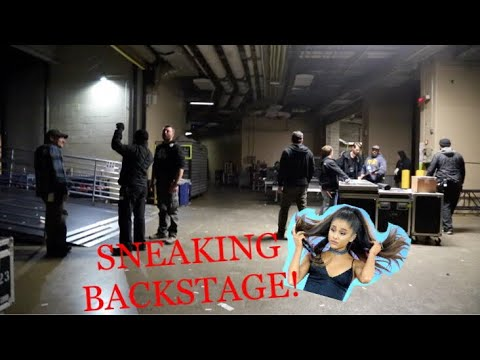 SNEAKING into Ariana Grande Concert!!! BACKSTAGE