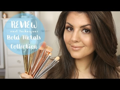 REVIEW // Real Techniques BOLD METALS Collection Makeup Brushes // Rachael Jade
