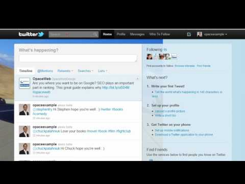 Twitter Basics (Part 6) - Trending Topics, Advanced Twitter Search - Opace Twitter Video Tutorials