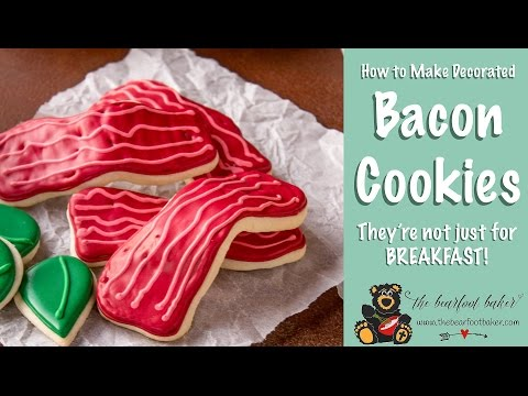 How to Make Simple Bacon Cookies with a Video