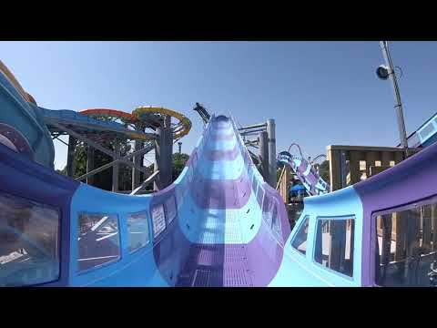 Hersheypark's new Breakers Edge water coaster ride POV family travel