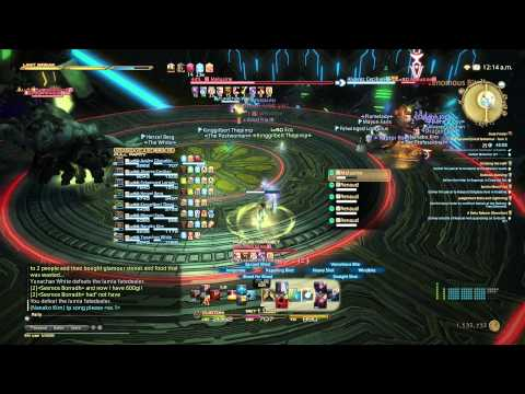 FFXIV ARR: the Second Coil of Bahamut Turn 2 Bard Kiting POV 4 Stack Strategy