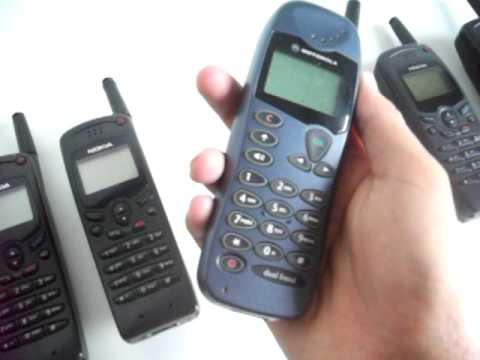My old cell phones - from 1995 to 2002...