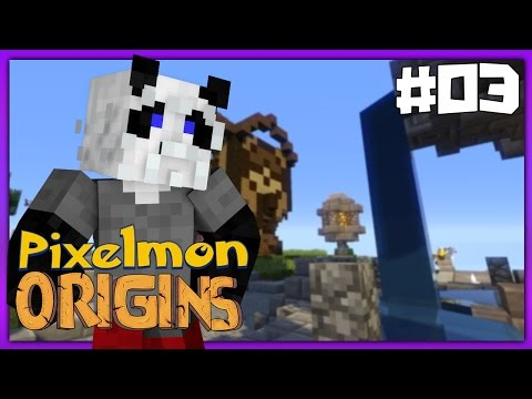 Pixelmon Origins - Episode 3 - POKEBALL SHOP! (Pixelmon 4.0.4 Survival SMP)