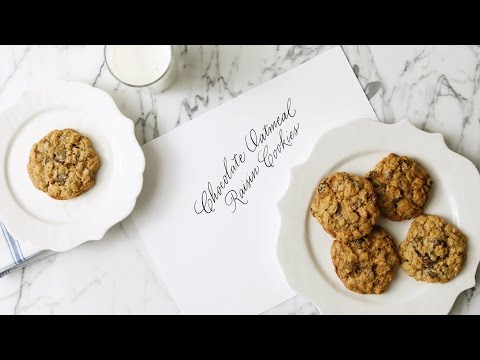 Chocolate-Oatmeal Raisin Cookies- Martha Stewart