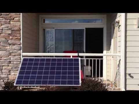 Small apartment balcony solar power setup (part 1)