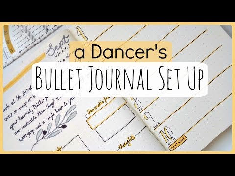 How I Plan My Life as a Dancer // New Bullet Journal Set Up