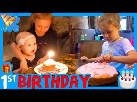 🎉 FIRST BIRTHDAY IN THE RV 🎁 Disneyland First Birthday 🎂