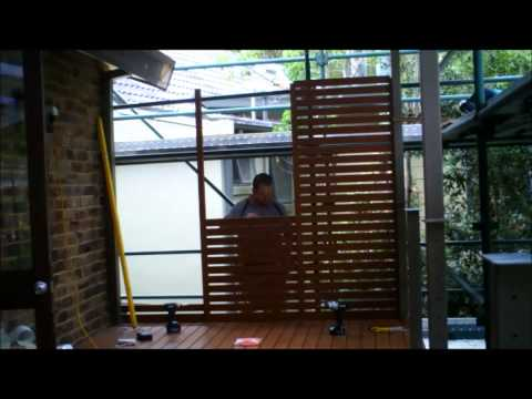 Knotwood Privacy Screen Time Lapse - KRG Building Services