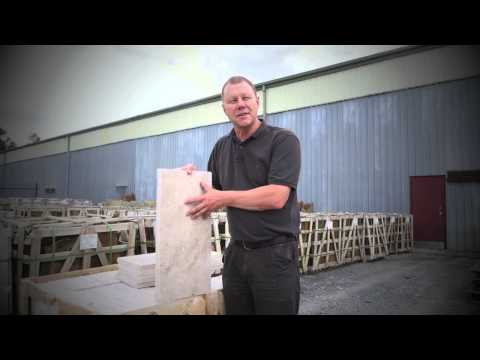 Travertine bullnose tiles
