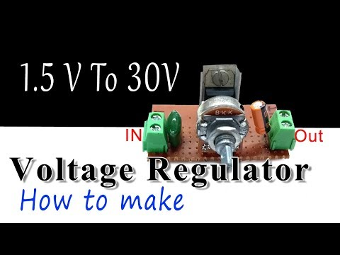 DC voltage regulator using LM 317 ic | how to make
