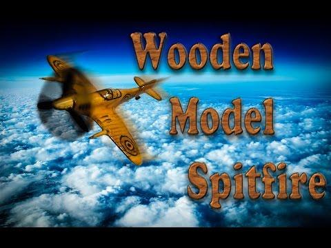 Dremel ile Ahşap oyma sanatı uçak yapımı (Wooden Model Spitfire plane)