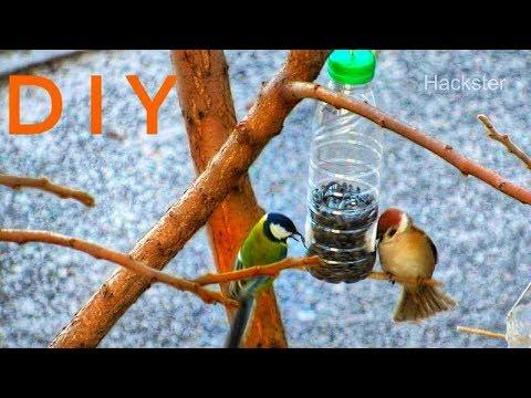 How To Make Bird Feeder Out Of Plastic Bottle - DIY Bird Feeder Tutorial