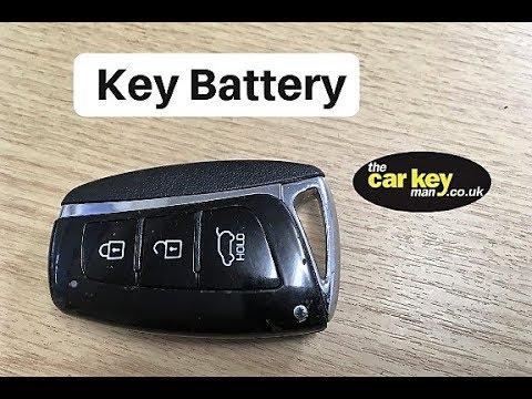Key Battery Hyundai Santa Fe Keyless HOW TO change