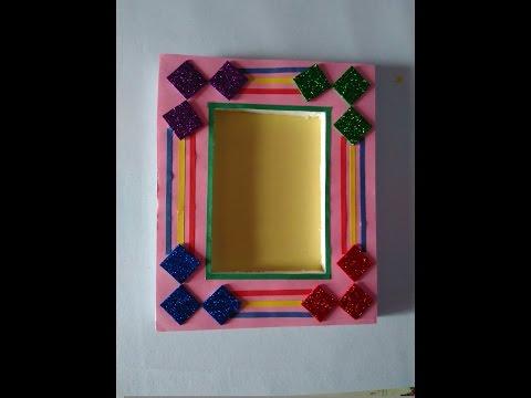 How to make hand made photo frame   beautiful photo frame