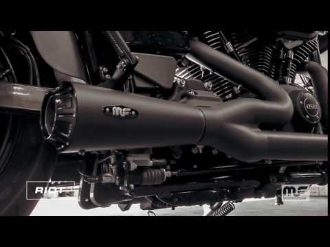 Magnaflow Harley-Davidson Dyna Motorcycle Riot Black Exhaust Sound Clip