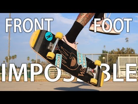 HOW TO Switch Front Foot Impossible | Freestyle Skateboarding Trick Tip