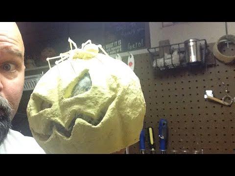 Live class painting a pumpkin