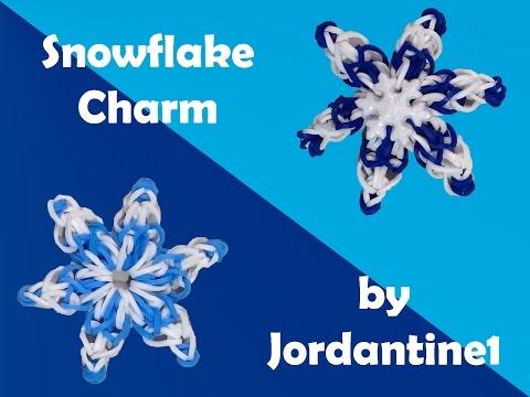 New Snowflake Charm - Rainbow Loom or Monster Tail