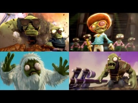 Plants vs. Zombies Garden Warfare - All Final Bosses