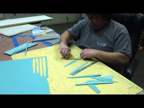 PVC foam & fiberglass cutting action